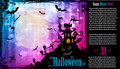 Suggestive Hallowen Party Flyer Royalty Free Stock Photos - 21525778