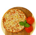 Pizza Quatrro Fromaggi (four Cheese) Stock Photography - 21556722