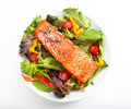Salmon Salad Royalty Free Stock Images - 21587109