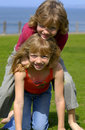 Twins In A Seaside Park Stock Photography - 2163542