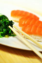 Salmon Sushi Plate Royalty Free Stock Image - 21604256