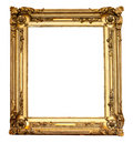 Real Old Antique Gold Frame Isolated Royalty Free Stock Image - 21604786