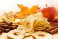 Dried Apples And Cinnamon Stock Photos - 21609273