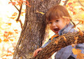 Happy Young Toddler Girl In Autumn Playing Royalty Free Stock Image - 21621996