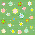 Floral Seamless Retro Pattern With Many Flowers Royalty Free Stock Photo - 21625355