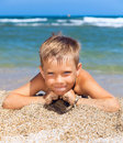 Boy On The Beach Royalty Free Stock Image - 21631016