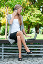 Business Woman Talking On A Cell Phone Stock Photo - 21655570