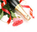 Champagne And Pink Roses Stock Photography - 21669792