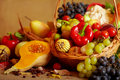 Still Life With Autumn Vegetables And Fruits Royalty Free Stock Photo - 21670125