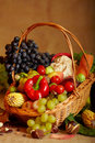 Still Life With Autumn Vegetables And Fruits Royalty Free Stock Photos - 21670208