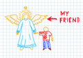 Angel With Boy Stock Image - 21686071