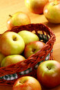 Apple And Basket Stock Photography - 21692312