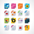 File Labels Icon Set Royalty Free Stock Image - 21707936