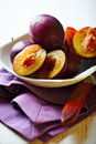 Fresh Plums In A Bowl Royalty Free Stock Photo - 21708835