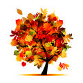 Beautiful Autumn Tree For Your Design Royalty Free Stock Image - 21735516
