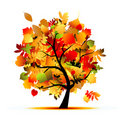 Beautiful Autumn Tree For Your Design Royalty Free Stock Photos - 21735518