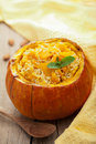 Pumpkin With Risotto Royalty Free Stock Photos - 21748148