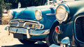Front View Of Vintage Classic Car Royalty Free Stock Photo - 21757245