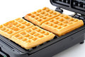 Freshly Baked Sugar Waffles Royalty Free Stock Image - 21760076