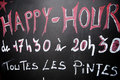 Happy Hour Royalty Free Stock Photography - 21763347