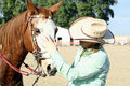 Horse And Owner 2 Royalty Free Stock Photography - 21780667