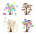 Original Set Of Trees Stock Photos - 21783873