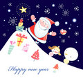 Greeting Card With Santa Claus Royalty Free Stock Images - 21789889