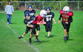 Youth American Football Out Of Bounds Royalty Free Stock Images - 21792489