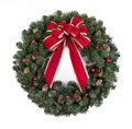Christmas Wreath With Red Bow Stock Images - 21794724
