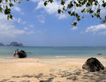 Exotic Beach Setting Royalty Free Stock Image - 2184736