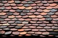 Old Roof Tiles Pattern Royalty Free Stock Images - 21803529