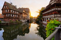 Sunset In Petite-France, Strasbourg, France Royalty Free Stock Image - 21811416