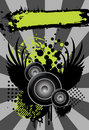 Urban Grungy Music Background With Place For Text Stock Photo - 21817470