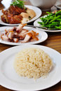Hainanese Chicken Rice Royalty Free Stock Photography - 21826797