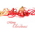 Christmas Bell With Red Ribbon Royalty Free Stock Photos - 21828618