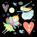 Fun Fairy And Birds Stock Photo - 21828880