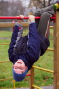 Happy Smiling Child In Playground Head Down Stock Photos - 21840543