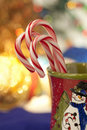 Peppermint Candy Canes In Christmas Cup Royalty Free Stock Photo - 21845595