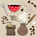 Coffee Set Royalty Free Stock Images - 21858779