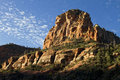 Huge, Tall, And Rugged Red Rock Mountain In Sedona Arizona Stock Photography - 21880672