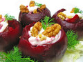 Tasty Snack With Beetroot Royalty Free Stock Photography - 21897017