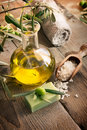 Natural Spa Setting With Olive Products Royalty Free Stock Photo - 21897715