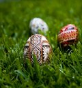 Wax Decorated Easter Eggs Royalty Free Stock Photos - 2191708