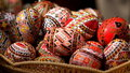 Romanian Painted Easter Eggs Royalty Free Stock Photo - 2192755