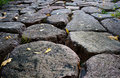 Stone Road From Granite Cobble Royalty Free Stock Image - 21901036