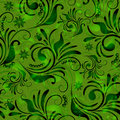 Green Seamless Floral Pattern Royalty Free Stock Photography - 21906237