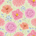 Floral Bacground With Pink Hand Drawn Flowers Stock Image - 21910681