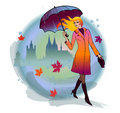 Girl With Umbrella Stock Images - 21926054