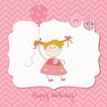 Baby Greeting Card With Photo Frame Stock Photography - 21933092