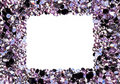 Square Frame Made From Many Small Purple Diamonds Royalty Free Stock Photos - 21934288